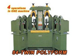 BACKPART MOULDING AND HEEL FLANGING MACHINE