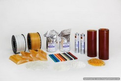 THERMOPLASTIC ADHESIVES ESSEBI in rod, granules and cylinders